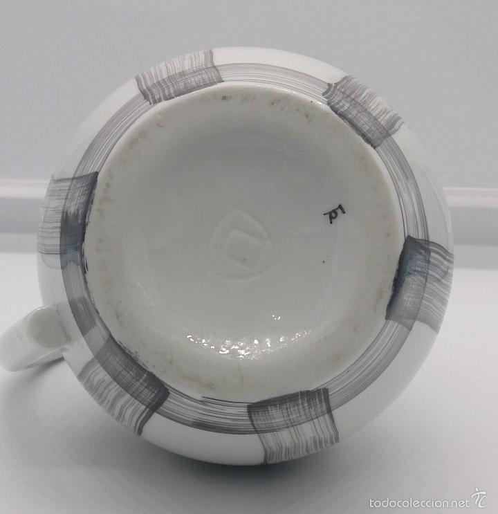 Antigüedades: Lechera antigua en porcelana fina CASTRO GALICIA , firmada en la base . - Foto 5 - 152708538