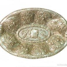 Antigüedades: BANDEJA EN PLATA CINCELADA SIGLO XIX. Lote 56522085