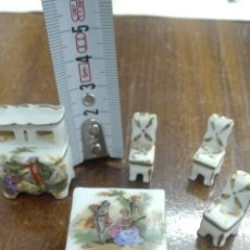 Antigüedades: SALÓN MINIATURA DE PORCELANA LIMOGES #. Lote 180138038