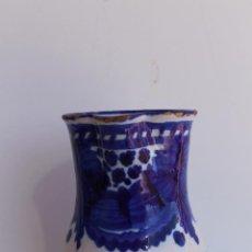 Antigüedades: JARRA AZUL Y BLANCA DE MANISES SIGLO XIX. Lote 56534216