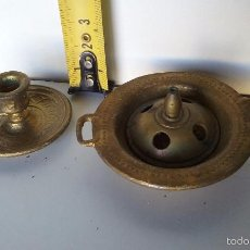 Antigüedades: BRASERO Y PALMATORIA EN MINIATURA . Lote 56544176
