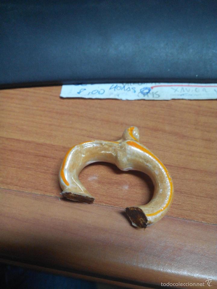 Antigüedades: SOPERA BLANCA CON LINEAS NARANJAS - Foto 5 - 26242129