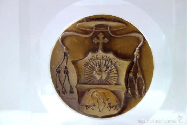 Antigüedades: MEDALLA CONMEMORATIVA SAN DANIEL COMBONI 1831-1881 - BRONCE MONTADO EN METACRILATO - Foto 3 - 56554000