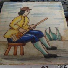 Antigüedades: AZULEJO CERAMICA CATALANA OFICIOS DE PRINCIPIOS DE 1900 EN BUEN ESTADO FIRMADO. Lote 56554243