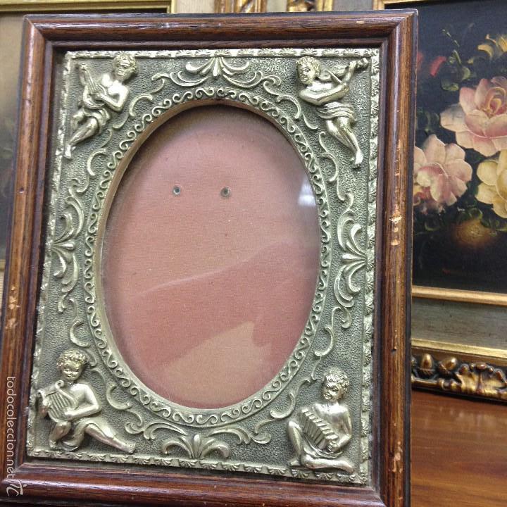 precioso marco de madera adornado con angelotes - Comprar Marcos ...