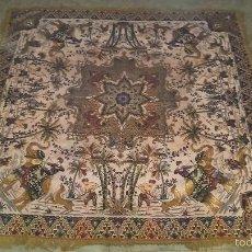 Antigüedades: TAPIZ DE SEDA MOTIVOS DE LA INDIA. Lote 56555865