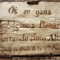 Antigüedades: RARÍSIMA BULA INDULGENCIA PLENARIA. Lote 56558780
