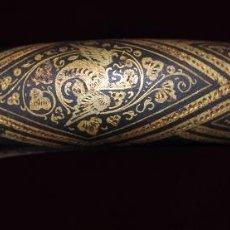 Antigüedades: PRECIOSO BASTÓN CON DECORACIONES GRABADAS EN ORO DE PRINCIPIOS DEL SIGLO XX. Lote 56563400