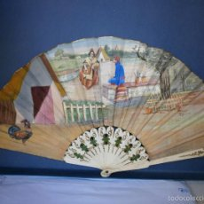 Antigüedades: ABANICO MODERNISTA. DE HUESO.. Lote 56568244
