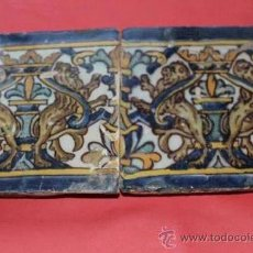 Antigüedades: TRIANA (SEVILLA) AZULEJO POLICROMO SXVII. Lote 36862345