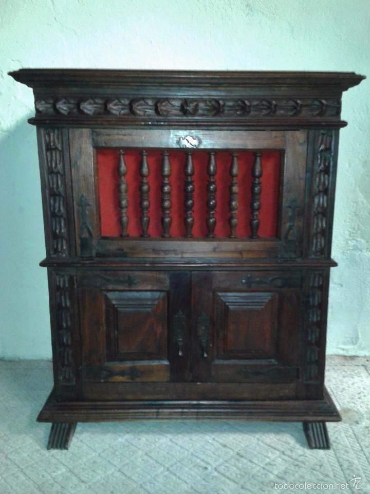 Mueble auxiliar antiguo estilo renacimiento rec comprar for Mueble auxiliar rustico
