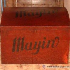 Antigüedades: ANTIGUO GRAN BAUL CON PUBLICIDAD DE CHOCOLATE MAYIN. LAVIANA. ASTURIAS. Lote 56587045