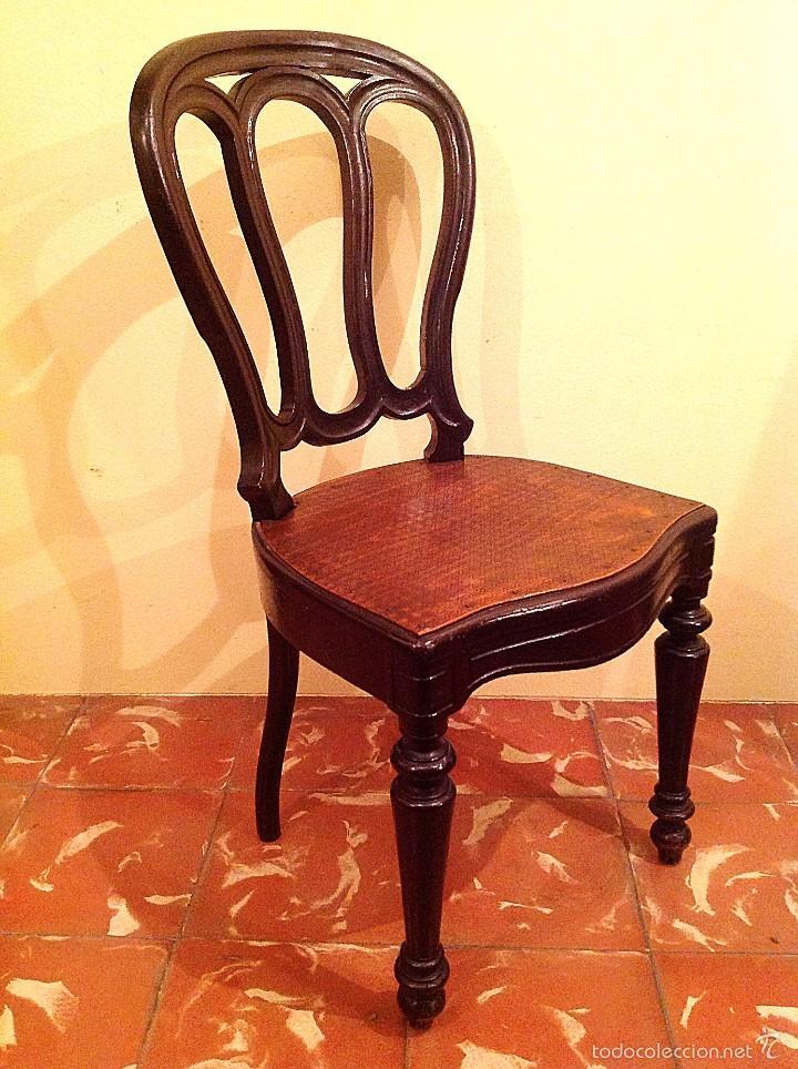 antigua silla de nogal estilo victoriano maciza - Comprar Sillas ...