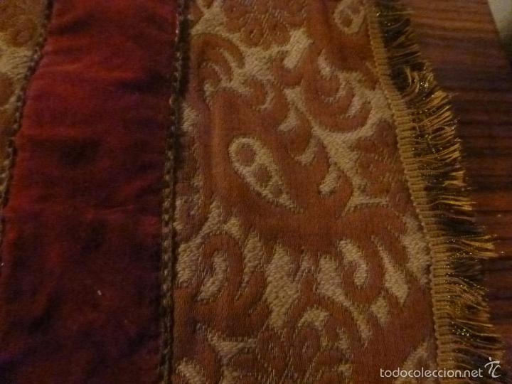Antigüedades: tapete de terciopelo - Foto 5 - 56588896