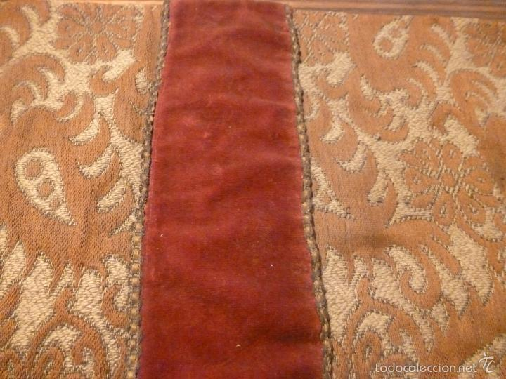 Antigüedades: tapete de terciopelo - Foto 8 - 56588896