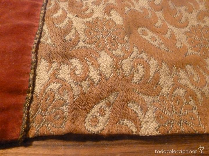 Antigüedades: tapete de terciopelo - Foto 10 - 56588896