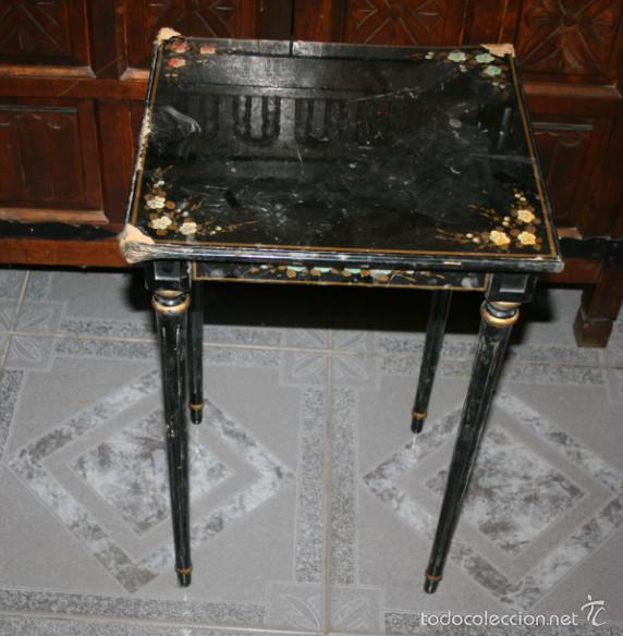bonita mesa antigua auxiliar pintada a mano par - Comprar Mesas ...