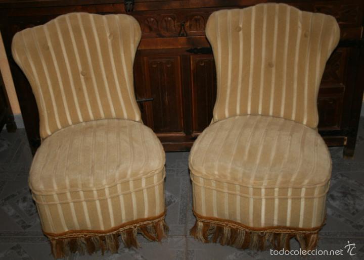pareja de antiguas butacas descalzadoras, sillo - Comprar Sillones ...