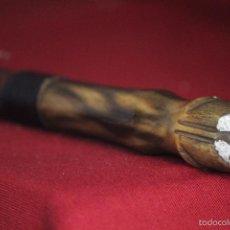 Antiques - baston en cuero y cuerno - 56591201