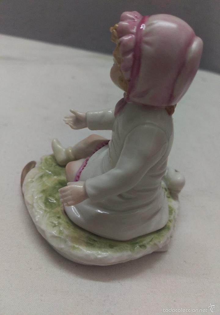 Antigüedades: DELICADA FIGURA INFANTIL EN PORCELANA GALOS GALICIA SELLADA NUMERADA - Foto 3 - 56595079