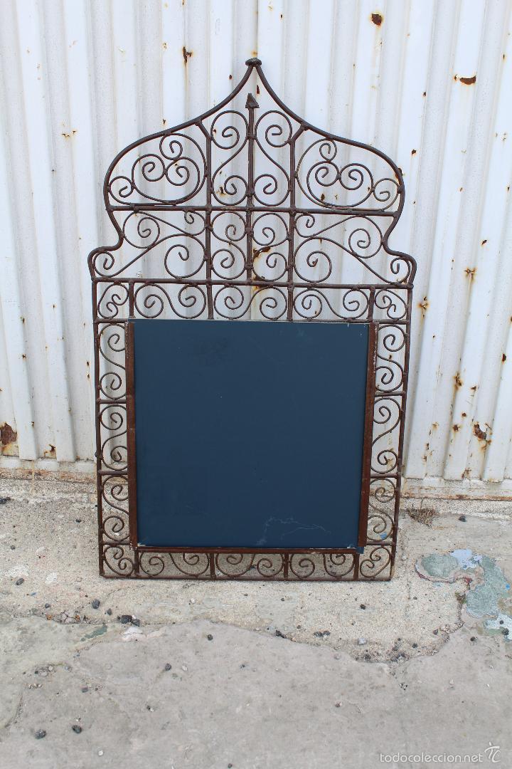 Antigüedades: espejo en hierro de forja - Foto 2 - 56603807