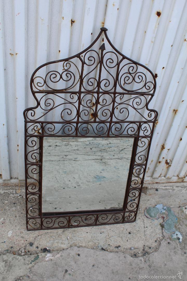 Antigüedades: espejo en hierro de forja - Foto 3 - 56603807