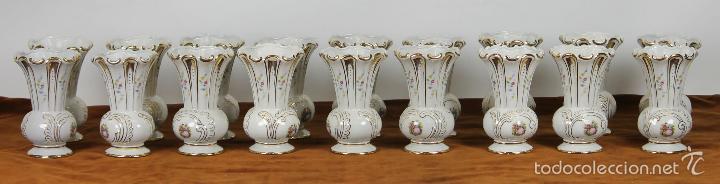 COLECCION DE 18 FLOREROS. PORCELANA ESMALTADA. JÄGER. ALEMANIA. CIRCA 1950. (Antigüedades - Porcelana y Cerámica - Alemana - Meissen)