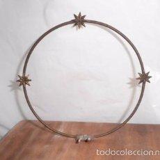 Antigüedades: PEQUEÑA CORONA DE METAL CON 3 ESTRELLAS. Lote 56612752