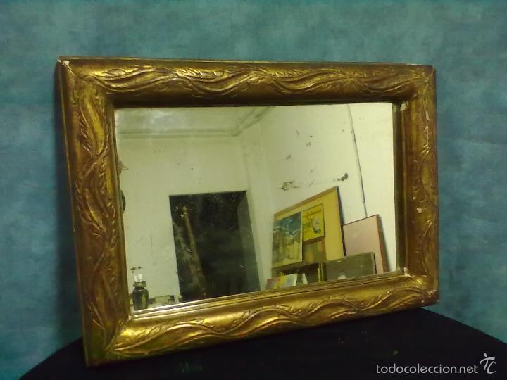 Antigüedades: ESPEJO ISABELINO PAN DE ORO - Foto 2 - 56613944