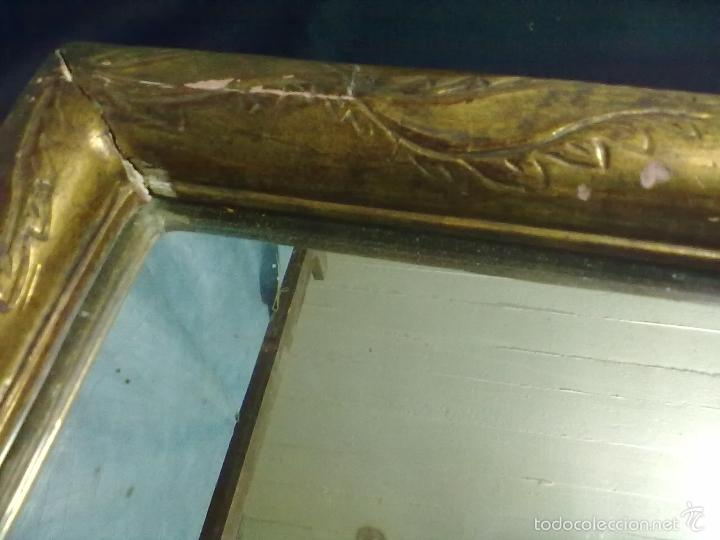 Antigüedades: ESPEJO ISABELINO PAN DE ORO - Foto 4 - 56613944