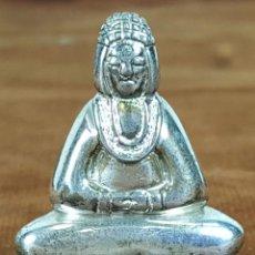 Antigüedades: FIGURA DE BUDA EN MINIATURA. PLATA. SIGLO XX. . Lote 56613964