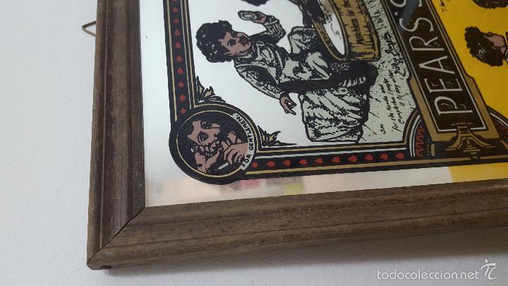 Antigüedades: Cartel publicidad sobre espejo. - Foto 2 - 56614397