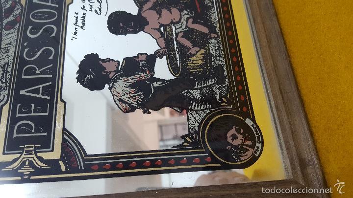 Antigüedades: Cartel publicidad sobre espejo. - Foto 4 - 56614397