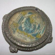 Antigüedades: ANTIGUO RELICARIO DE PELTRE......SIGLO XVIII......SAN RAMON NONATO.. Lote 56615701