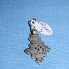 Antigüedades: CRUZ COLGANTE ETÍOPE EN METAL. Lote 56616593