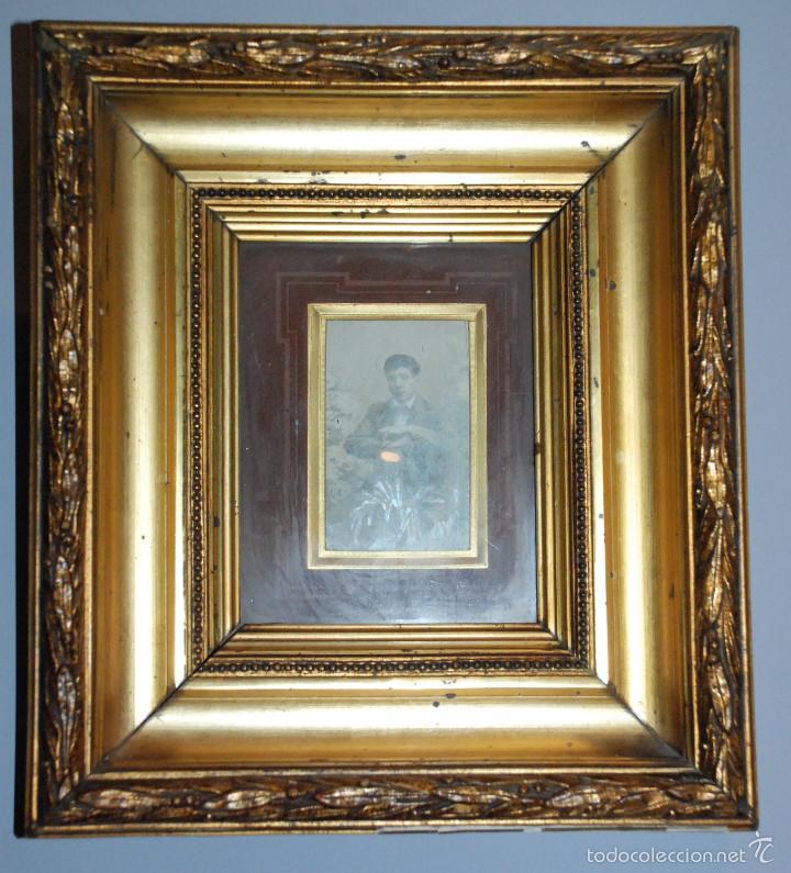 pareja de antiguos marcos de madera en oro fino - Comprar Marcos ...