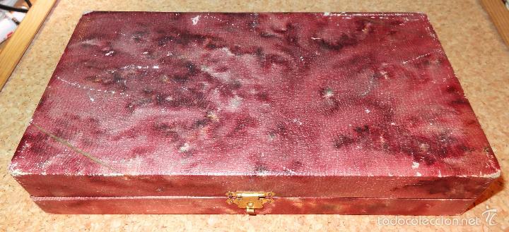 Antigüedades: Set de 2 cubiertos de plata con su caja original - Foto 6 - 56619844