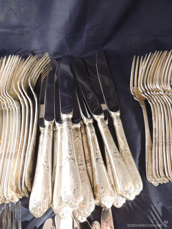 Antigüedades: CUBERTERIA DE PLATA CRUZ DE MALTA 7,6 KG. 170 PIEZAS - Foto 3 - 56621674