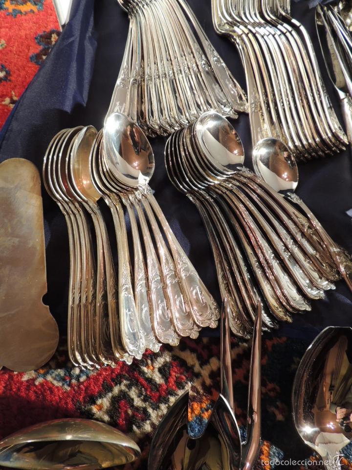 Antigüedades: CUBERTERIA DE PLATA CRUZ DE MALTA 7,6 KG. 170 PIEZAS - Foto 8 - 56621674