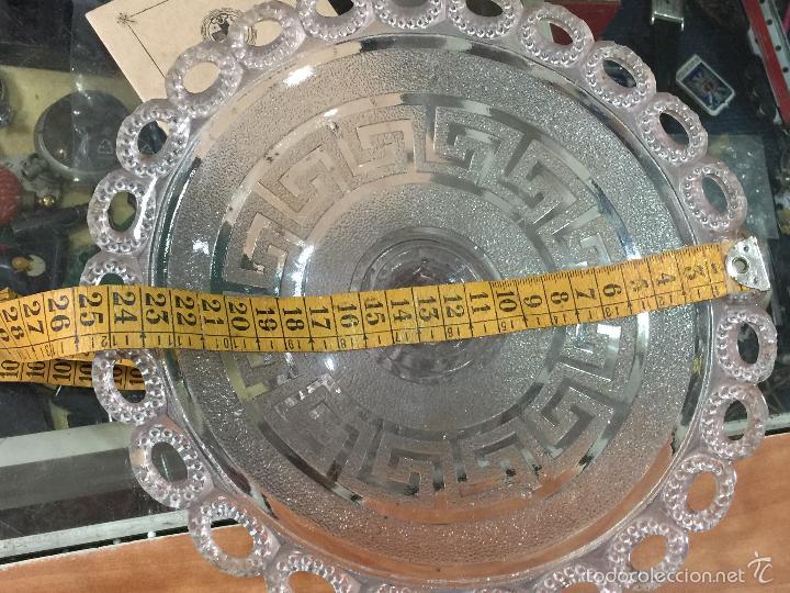 Antigüedades: Antiguo frutero de cristal prensado - Foto 6 - 56621714