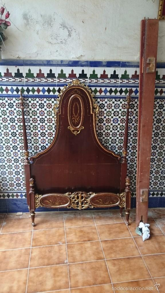 CABECERO DE CAMA ANTIGUA (Antigüedades - Muebles Antiguos - Camas Antiguas)