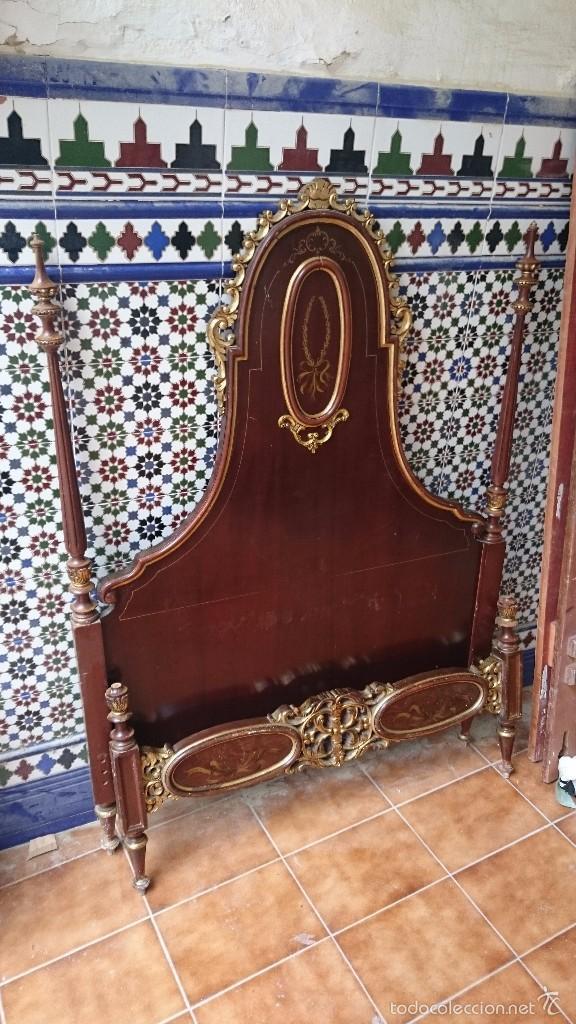 Antigüedades: cabecero de cama antigua - Foto 2 - 56627041