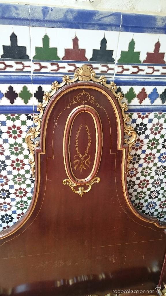 Antigüedades: cabecero de cama antigua - Foto 3 - 56627041