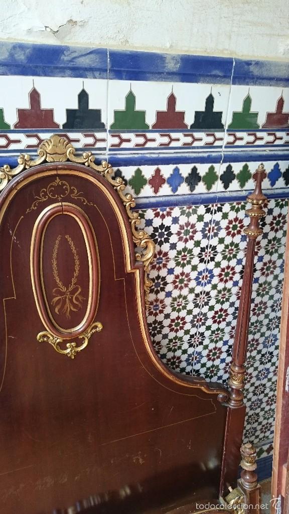Antigüedades: cabecero de cama antigua - Foto 4 - 56627041
