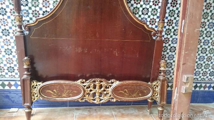 Antigüedades: cabecero de cama antigua - Foto 5 - 56627041