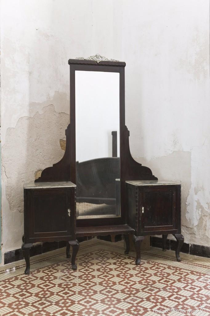 impresionante tocador ardeco de madera, copete - Comprar Muebles ...