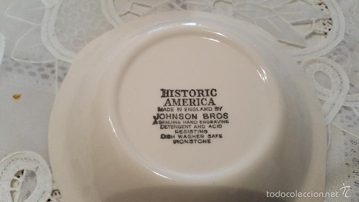 Antigüedades: MAGNIFICA FUIENTE DE PORCELANA DE 4 BOQUILLAS DE JHONSON BROS - MEDIDAS 13.5 CTMS DIAMETROX 3 ALTO- - Foto 3 - 56652650