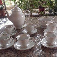 Antigüedades: PRECIOSO JUEGO DE CAFE, SELLADO ALHAMBRA. Lote 56658547