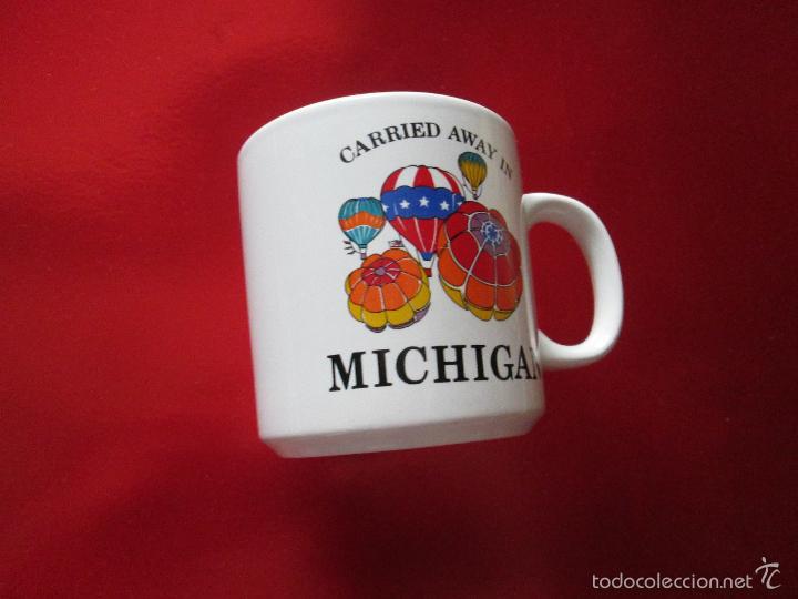 Antigüedades: TAZÓN-COFFE MUG-MICHIGAN-9x8,5 CMS-BUEN ESTADO-VER FOTOS. - Foto 4 - 56667054