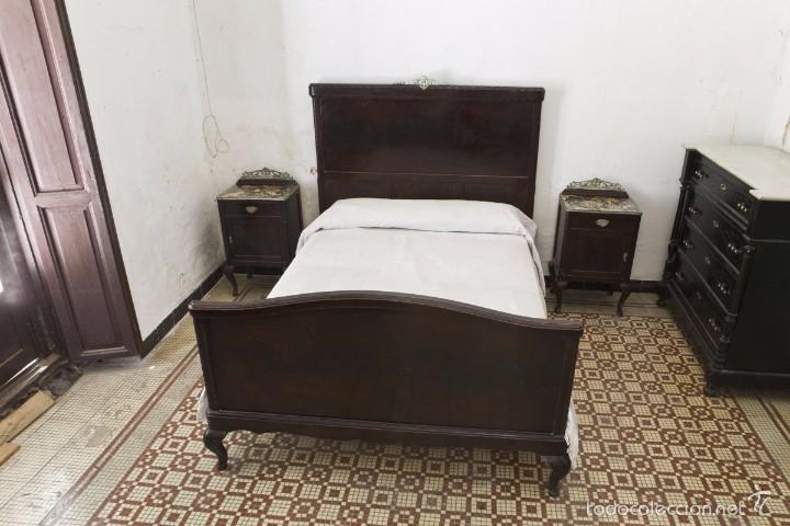 Antigua cama de matrimonio ardeco de madera y comprar - Camas de forja antiguas ...